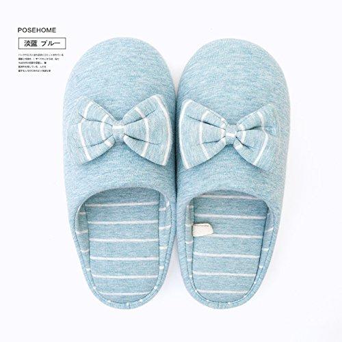 Fankou fondo morbido cotone pantofole inverno home giovane half bag con cura maschio scarpe anti-skid pantofole caduta femmina Weiß