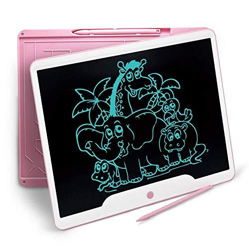 Richgv 15 Zoll LCD Writing Tablet mit Anti-Clearance Funktion und Stift, Digital Ewriter Grafiktabletts Schreibtafel Papierlos Notepad Doodle Board(Rosa) - Papier-control-board