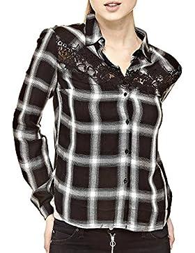 GUESS Camisa Mujer Motivo A Cuadros