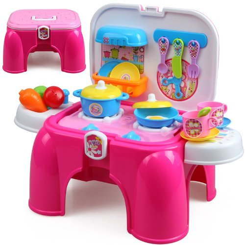 Sunshine-Carry-Along-Kitchen-Play-Set-with-Sitting-Stool-and-Music-Effect