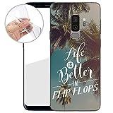 TPU Handyhülle für Dein Samsung Galaxy S9 Plus von finoo Made In Germany Hülle mit Motiv für Optimalen Schutz Silikon Tasche Case Cover Schutzhülle für Dein Samsung Galaxy S9 Plus-Life is better in FlipFlops