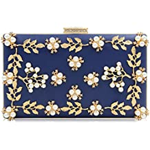 4e08f865eef0e Milisente Damen Blumen Clutch Elegante Abendtasche Perle Tasche Hochzeit  Handtasche