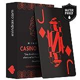 Mindrax Carte da Gioco Premium Carte Professionali da Poker di Design Impermeabili 100% PVC con indici Grandi