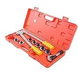 Rohr-Expander-Werkzeug, HanseMay 7-fach Profi-Rohr-Expander-Werkzeug Komplett-Set mit Rohrabschneider & Entgratwerkzeug