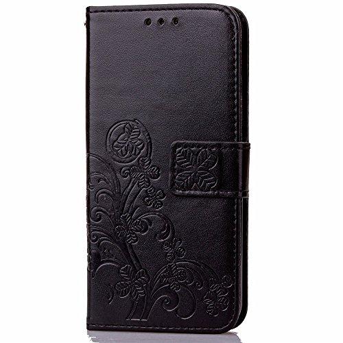 XIAOMI Case Cover Xiaomi Hongmi 2 2A Fall gepresster glücklicher Blumen-prägeartiger Muster-Standplatz-Fall mit Abzuglinie-Mappen-Karten-Schlitzen weiche TPU Abdeckung für Xiaomi Hongmi 2 2A ( Color : 5
