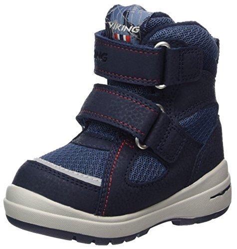 Viking Unisex-Kinder Ondur Bootsportschuhe, Blau (Navy/Red), 28 EU