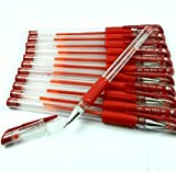 #10: TOTAL HOME:12Pcs 0.5mm Red Gel Ink Rollerball Ballpoint Pen Stationery Office School