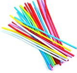 #8: Futurekart Bendable Neck Plastic Drinking Straws Pack of 200 pcs - Suitable for Soft Drinks, Juices, Ice Tea, Butter Milk and Cocktails - Multicolor - (Pack of 200 Pcs)