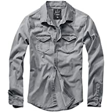 6ab0956691 Brandit Riley Denimshirt Camisa Vaquera Gris
