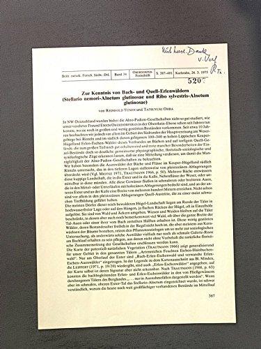 Zur Kenntnis von Bach- und Quell-Erlenwäldern (Stellario nemori-Alnetum glutinosae und Ribo sylvestris-Alnetum glutinosae).