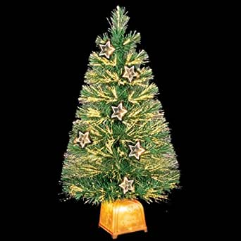 2Ft Fibre Optic Christmas Tree With Transparent Stars