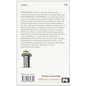 Biblioteca histórica: Libros I-III (El Libro De Bolsillo - Bibliotecas Temáticas - Biblioteca De Clásicos De Grecia Y Roma)