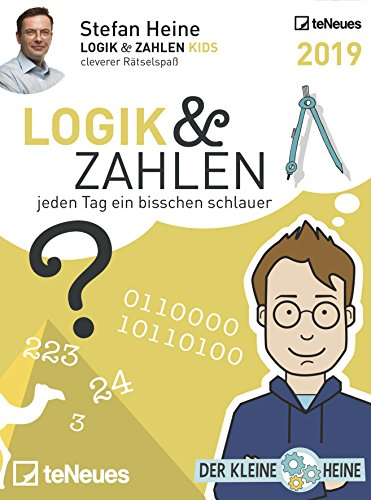Stefan Heine: Logik & Zahlen 2019 - Tagesabreißkalender, Rätselkalender, Logik und Wissen  -  11,8 x 15,9 cm