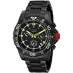 Red Line-rl-50030vk-bb-01yl-Armbanduhr-Quarz Chronograph-Armband Edelstahl schwarz
