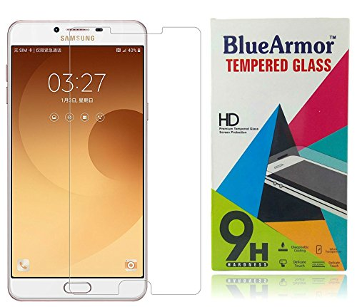 BlueArmor HD Clear Tempered Glass Screen Guard Protector for Samsung Galaxy C9...