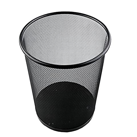 Trash cans trash can large household rust iron net trash toilet barbed wire trash commercial office wastebasket black round trash