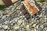 BZDHWWH 3D Bodenbelag Kopfstein Selbstklebende Tapete Für Wohnzimmer Küche Vinyl Tapete Wasserdicht Pvc 3D Europäischen Wandbild,140Cm X 200Cm