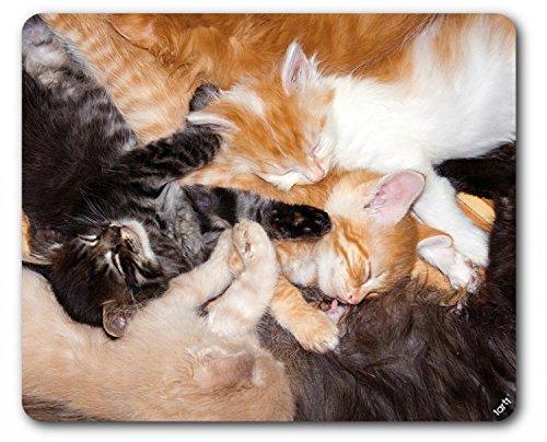 Gatos - Abrazo De Grupo Alfombrilla Para Ratón (23 x 19cm)