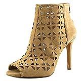 MICHAEL Michael Kors Womens Ivy Leather Open Toe Ankle, Dk Khaki, Size 10.0