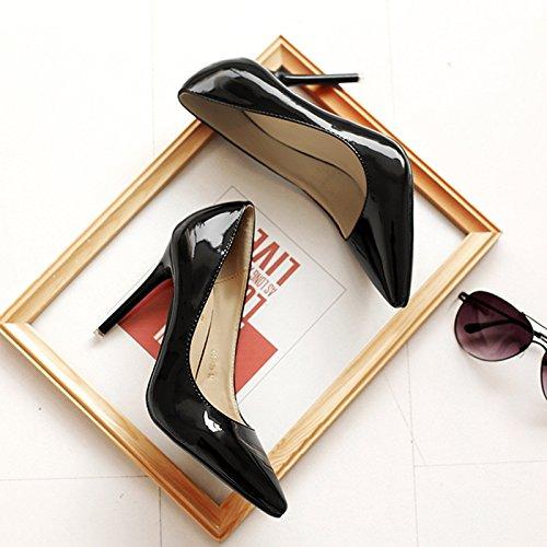 Punta della luce di alta scarpe tacco Scarpe donna ha sottolineato tacchi alti sexy bella con Black (painted)