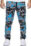 Herren Jogginghose Trainingshose Sporthose Fitness im Camouflage 794 blau Gr. S