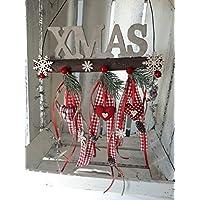 Türkranz Winter Türdeko Weihnachten XMAS Weihnachtskranz Landhaus herzen Tilda Art