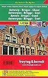 Freytag Berndt Stadtpläne, Antwerpen - Brügge - Gent - Magisches Dreieck, City Pocket + The Big Five - Maßstab 1:12.500