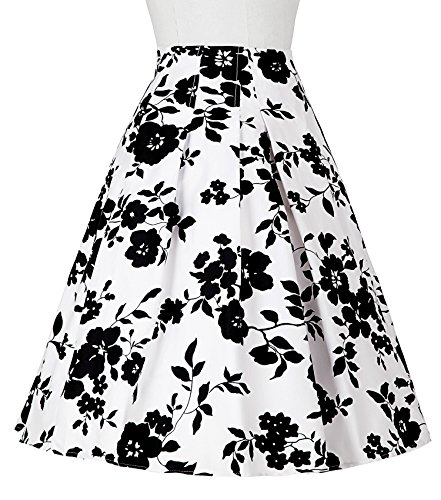 Damen 50s vintage retro rock vintage floral rockabilly swing tellerrock M CL8925-9 -