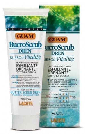 FANGHI D\'ALGA GUAM Burro Scrub doccia DREN 200ml anti cellulite esfoliante