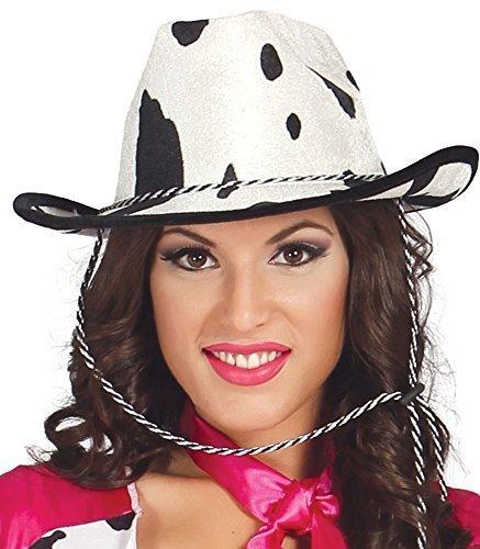 Damen Sexy Cowgirl Kuh Aufdruck Cowboy Wilder Westen Sheriff Kostüm Kleid Outfit (Kuh Sexy Outfit)