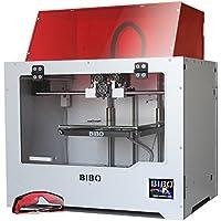 BIBO Imprimante 3D cadre métalliquede double extrudeuse à laser gravure wifi avec l'écran tactile à réduire le temps d'impression en moitié pour détection de filament lit de verre démontable
