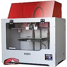 BIBO Stampante 3D, Struttura in Metallo, Incisione Laser a Doppio estrusore, WIFI, Schermo Tattile, Taglia a metà il tempo di stampa, rilevatore di filamento, Letto in vetro rimovibile