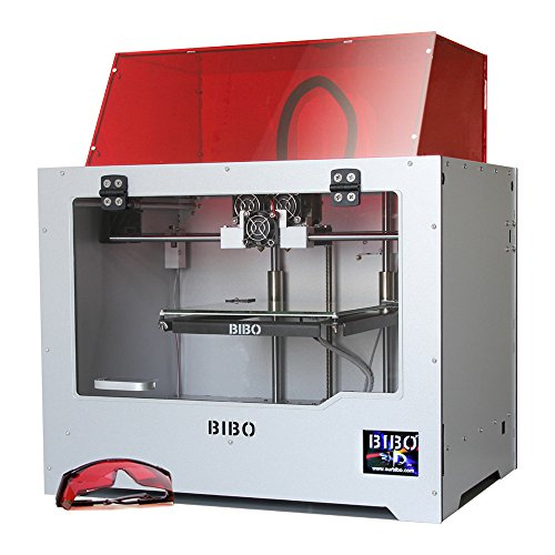 BIBO 3D Drucker Metal Frame Dual Extruder Laser Engraving WIFI Touch Screen Cut Printing Time In Half Filament Detect Demountable Glass Bed (Laser-schneiden Von Leder)