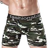 HVdsyf Camouflage Long Leg Boxer Sport Shorts Für Männer, U-Form Konvexe Unterwäsche Unterhose Briefs LNone C *None