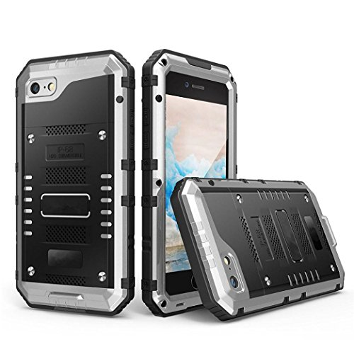für Iphone 6 Plus 5.5Inch, Happy Event IP68 H2O Unterwasser-Aluminium-Glas-Flim-Metall-Etui-Abdeckung für Iphone 6 Plus 5.5Inch (Silber)