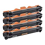 4 TONER TN-1050 für BROTHER MFC-1810, MFC-1810E, MFC-1811, MFC-1813, MFC-1815, MFC-1816, MFC-1819, MFC-1910 W, MFC-1911 NW, S2001, M1801, M1840, M2040, F2070, F2071
