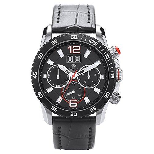 Royal London señores sports Chrono del reloj para hombre Negro FECHA 41271-01