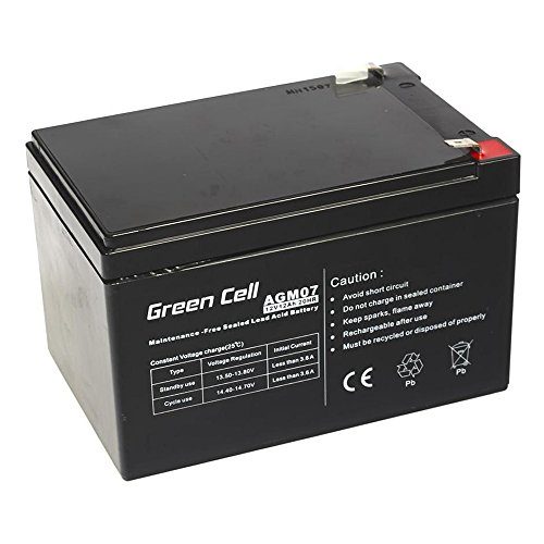 Green Cell Batteria AGM (12V 12Ah VRLA Faston F2)