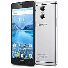 """Doogee Shoot 1 - 4G Smartphone Libre Android 6.0 (Pantalla FHD 5.5"""", 1.5GHz MT6737T Quad Core, 2GB RAM 16GB ROM, Dual Cámara 13.0MP+8.0MP, Touch ID, OTA, Carga Rápida, Dual SIM) (Gris)"""