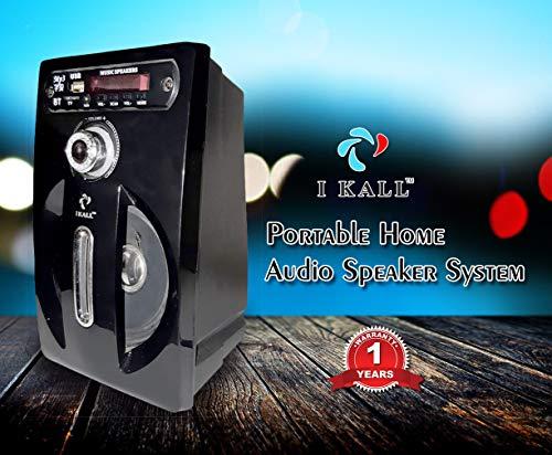 I KALL IK-001 Bluetooth Single Speaker Portable Indoor Outdoor Wireless/Wired Speaker (Black)