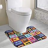 Hoklcvd Nähmaschine Rutschfeste Kontur Badematte für WC, saugfähiges Wasser Perfekt für Badezimmer. Kaufen Sie online Badematten zu den besten Preisen