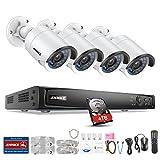 ANNKE 8CH 4.0MP Poe NVR Überwachungssystem, Netzwerk Video Recorder + 4×4 Megapixel IP Überwachungsskameras mit 4TB Überwachung Festplatte, Poe Plug und Play, Bewegungserkennung mit E-Mail Alarm