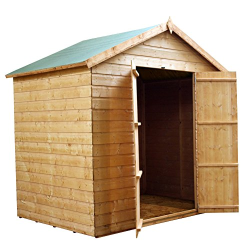 5x7 wooden tongue groove garden storage shed apex roof for Garden shed 5x7