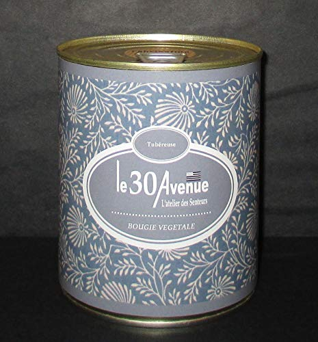LE 30 AVENUE Duftkerze, Tuberose, 360 g, pflanzliches Wachs, Fett (Tuberose-wachs)