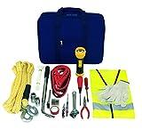 Autowerkzeug mit Werkzeugtasche und Pannenwerkzeug Sicherheitsweste, 2 Handschuhen, Abschleppseil, Starthilfekabel, Zange vieles mehr