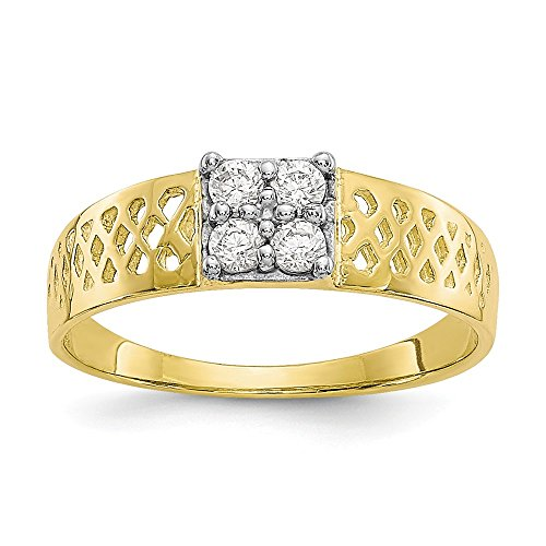 1bis 4mm 10K Zirkonia Baby Ring-Höhere Gold Goldgrad als 9Karat Gold (10k Birthstone Ring)