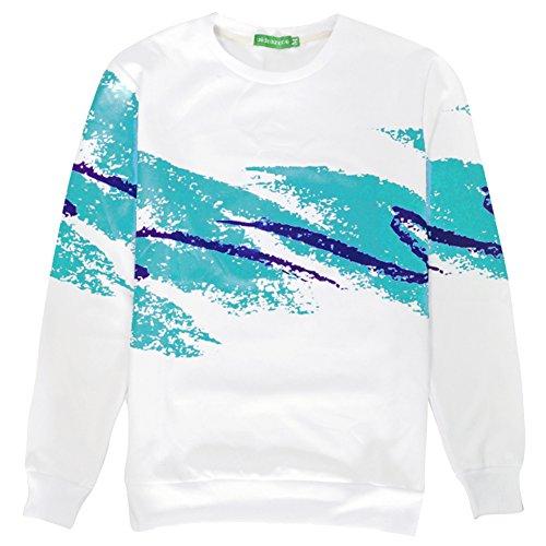 BFUSTYLE Unisex 3D Gedruckt Casual Sports Langarm T-Shirt für Männer und Frauen