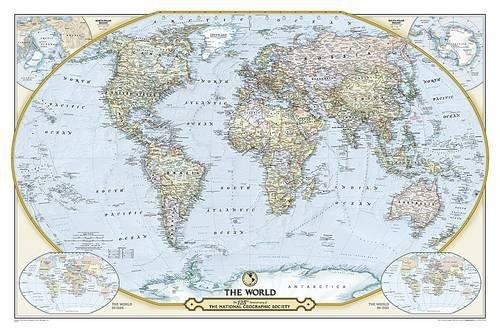 National Geographic Society 125th Anniversary World Map Laminated: Wall Maps Countries & Regions (National Geographic Reference Map) por National Geographic Maps