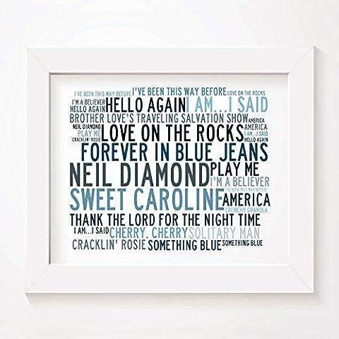 `Crystalline` Kunstdruck Poster - NEIL DIAMOND - Unterzeichnet und Nummerierten