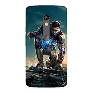 Impressive Style Genius Multicolor Back Case Cover for Moto X Play